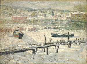 Ernest Lawson - Harlem River in Winter