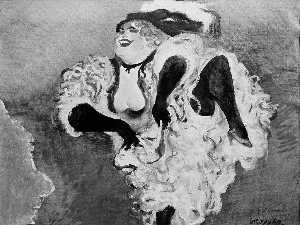 William Gropper - Can Can Girl