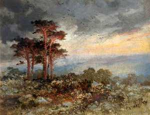 Charles Edward Wright - Study of Pines, Worlebury Woods