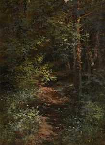 Charles Edward Wright - Up into the Woods at Torfels, Weston super mare