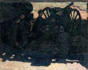 Kalman Kemeny - Battery in the Field, Russian Front