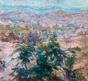Diana M Armfield - The Vaucluse Seen over Oak Saplings