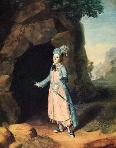 Charles Willson Peale - Nancy Hallam in Cave Scene from Cymbeline, (painting)