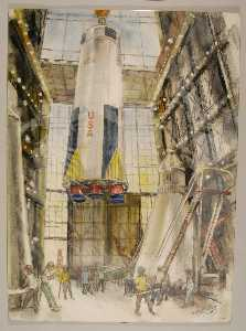 Henry C Pitz - Lifiting the First Stage in the VAB