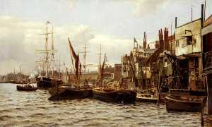 Frederic Almore Winkfield - The Riverside at Limehouse, London