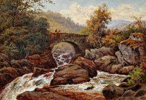 Thomas Spinks - An Old Bridge, Capel Curig