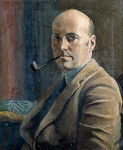 Philip William Cole - Self Portrait with a Pipe