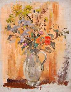 Helen D Kiddall - Flowers in a Jug