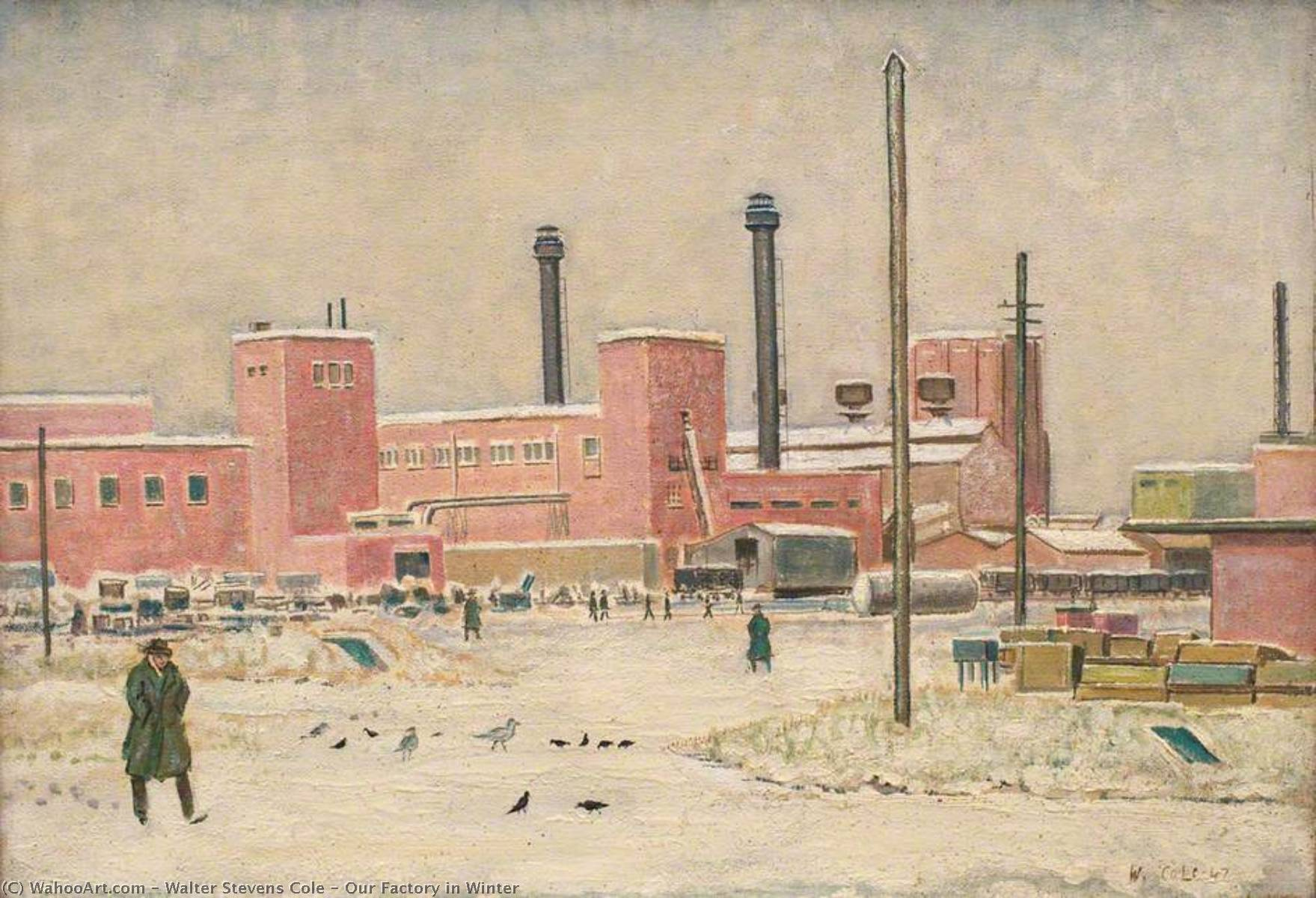 famous painting Our Factory in Winter of Walter Stevens Cole