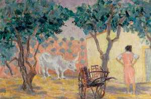 Harry Morton Colvile - Spanish Ox and Cart