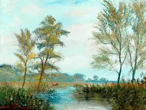 Stanley Ernest Dollimore - The Flooded Meadow