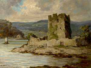 Padraic John Woods - Drum Castle by a River