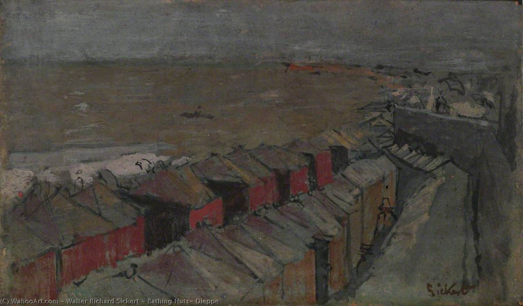 famous painting Bathing Huts, Dieppe of Walter Richard Sickert