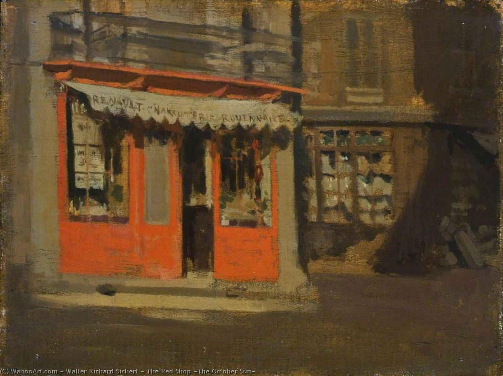 famous painting The Red Shop (The October Sun) of Walter Richard Sickert