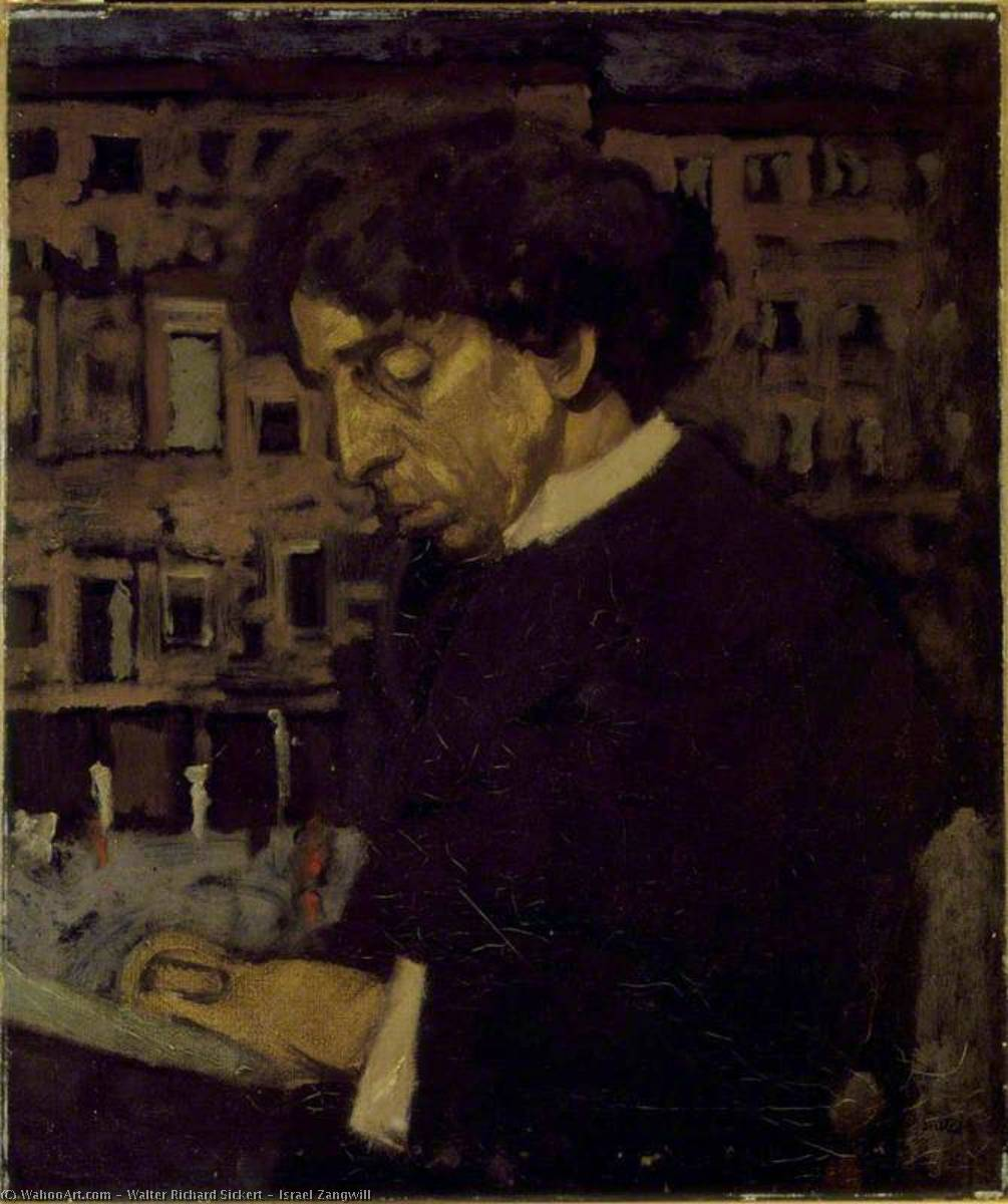 famous painting Israel Zangwill of Walter Richard Sickert