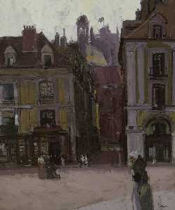 Walter Richard Sickert - The rue Notre Dame and the Quai Duquesne, Dieppe