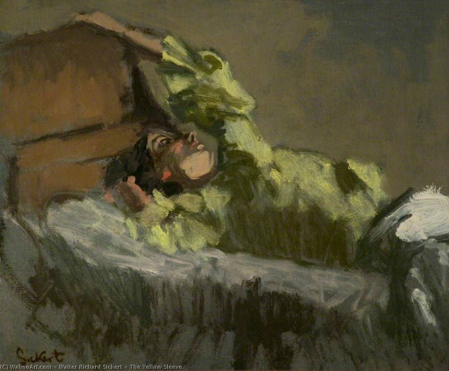 famous painting The Yellow Sleeve of Walter Richard Sickert