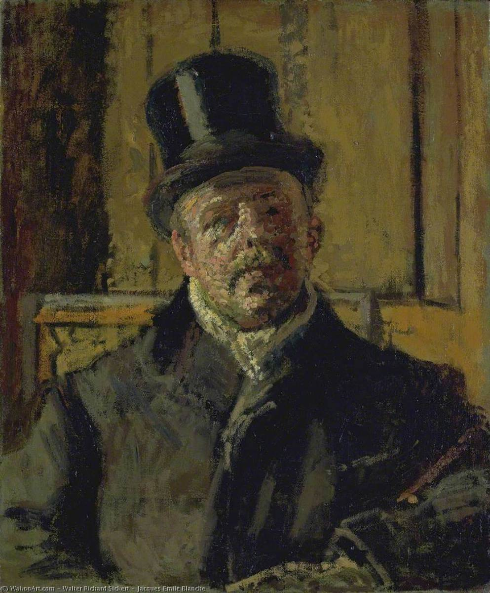 famous painting Jacques Emile Blanche of Walter Richard Sickert