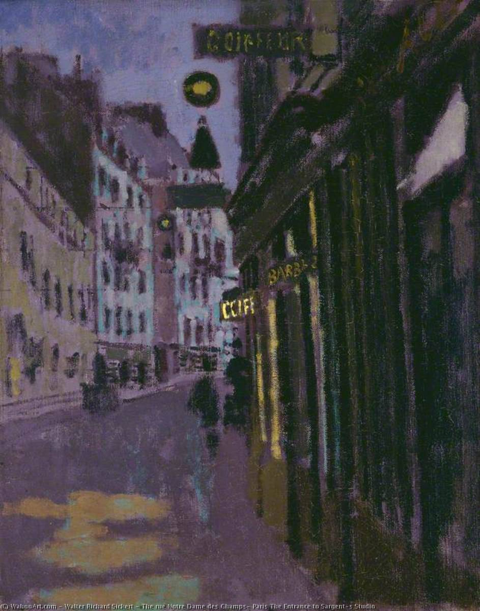 famous painting The rue Notre Dame des Champs, Paris The Entrance to Sargent's Studio of Walter Richard Sickert