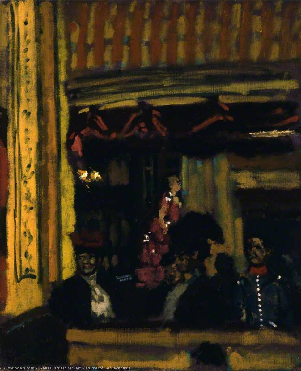 famous painting La gaieté Rochechouart of Walter Richard Sickert