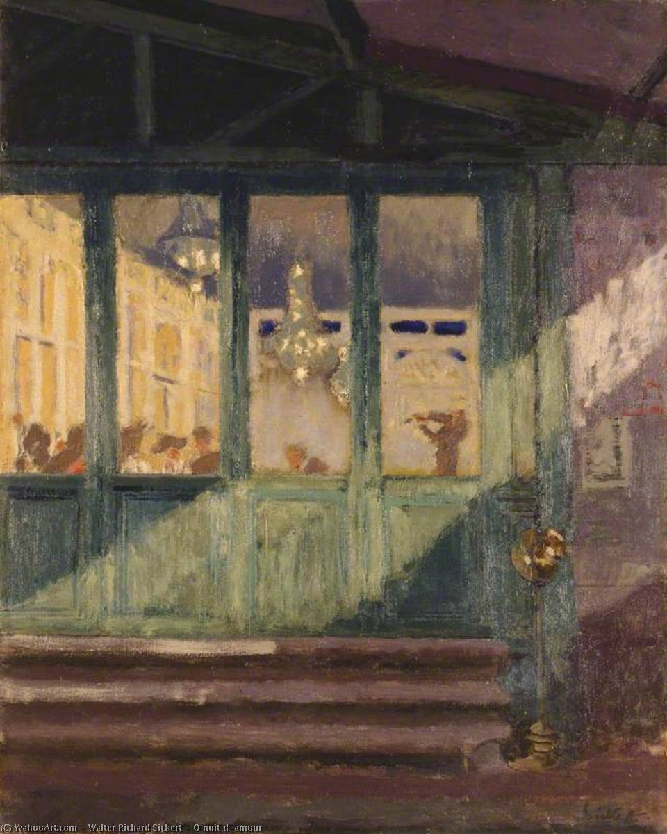 famous painting O nuit d'amour of Walter Richard Sickert