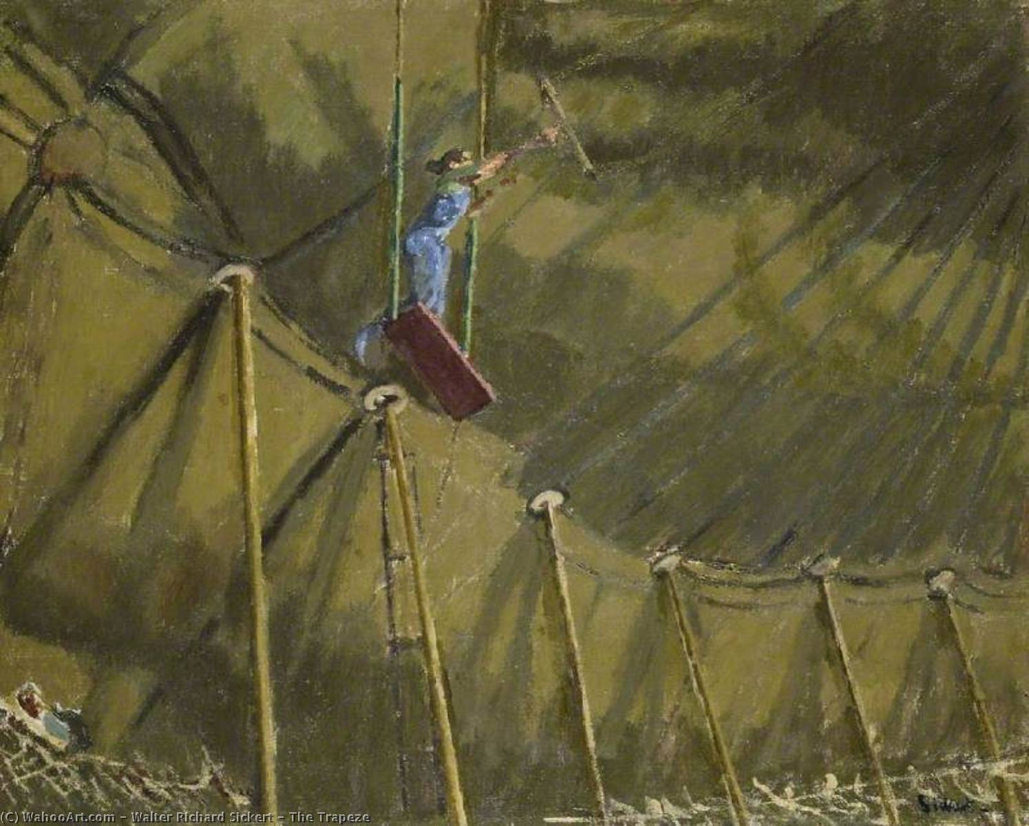 famous painting The Trapeze of Walter Richard Sickert