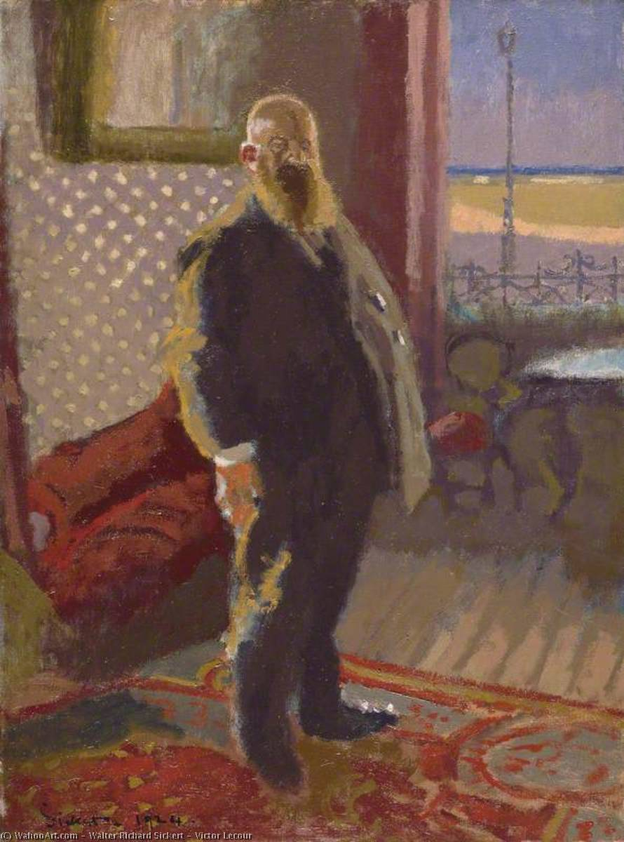 famous painting Victor Lecour of Walter Richard Sickert