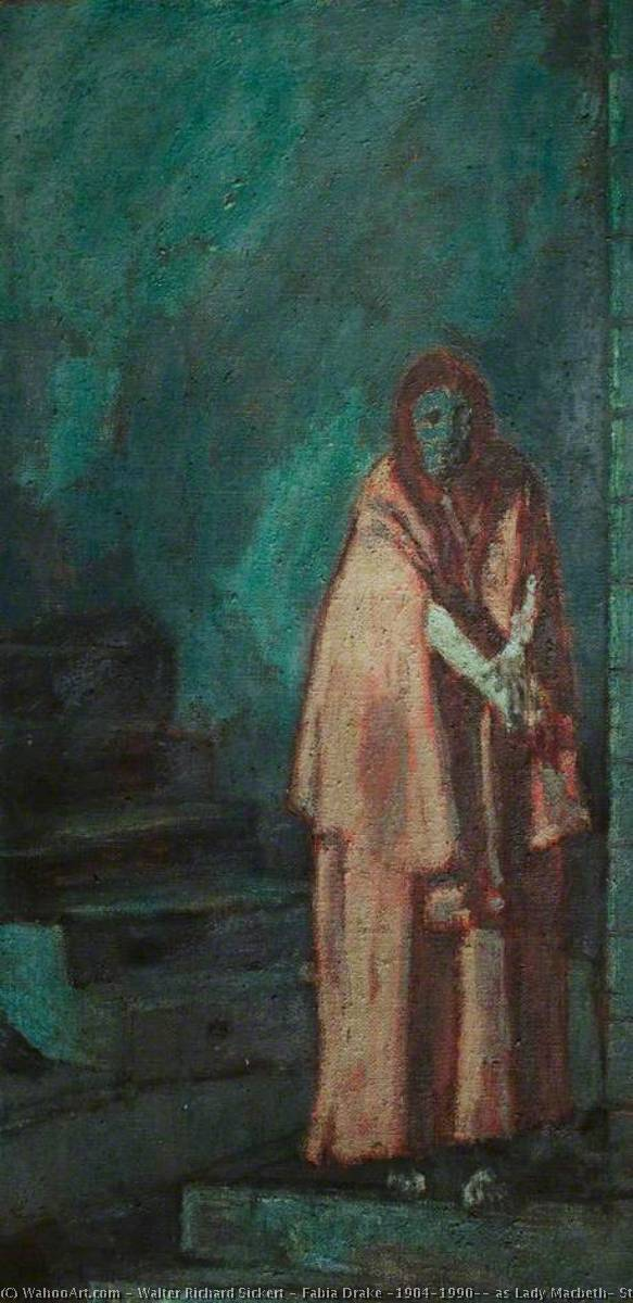 famous painting Fabia Drake (1904–1990), as Lady Macbeth, Stratford (from 'Macbeth') of Walter Richard Sickert