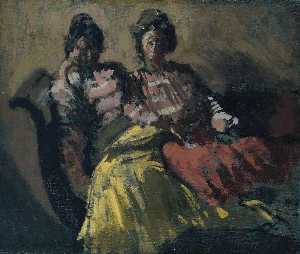 Walter Richard Sickert - Two Women on a Sofa Le Tose