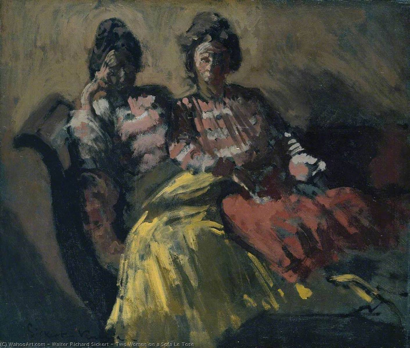 famous painting Two Women on a Sofa Le Tose of Walter Richard Sickert