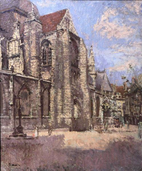 famous painting L'église Saint Jacques, portail sud of Walter Richard Sickert