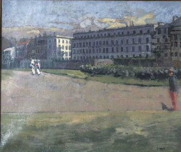 famous painting Vue de l'Hôtel Royal (Plage de Dieppe) of Walter Richard Sickert