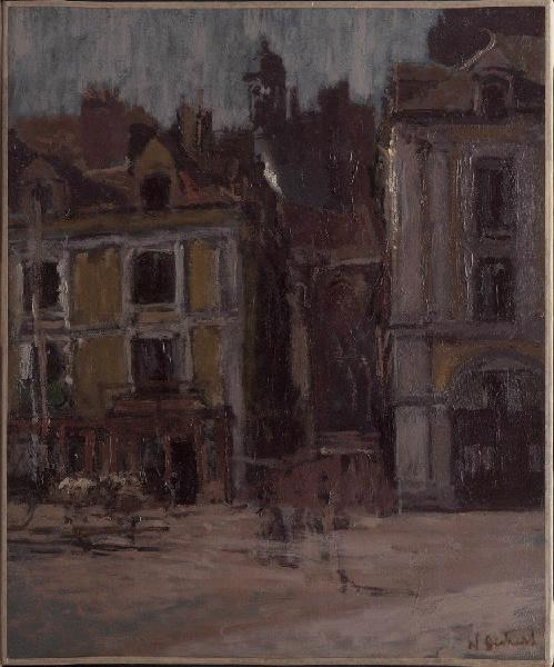 famous painting La rue Notre Dame, Dieppe of Walter Richard Sickert
