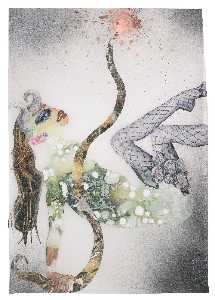 Wangechi Mutu - Untitled (Female in Fishnet)