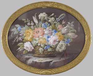 Marie Victoire Jaquotot - A Basket of Flowers