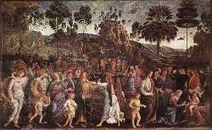 Pietro Perugino (Pietro Vannucci) - Moses's Journey into Egypt and the Circumcision of His Son Eliezer