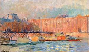 Albert-Charles Lebourg (Albert-Marie Lebourg) - The Louver and the Pont des Arts