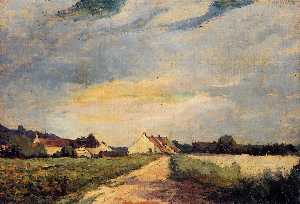 Albert-Charles Lebourg (Albert-Marie Lebourg) - Landscape with Houses