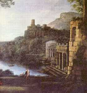 Claude Lorrain (Claude Gellée) - Landscape with Nymph Egeria and King Numa