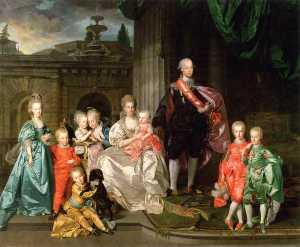 Johann Zoffany - Grand Duke Pietro Leopoldo with His Wife and Their First Eight Children