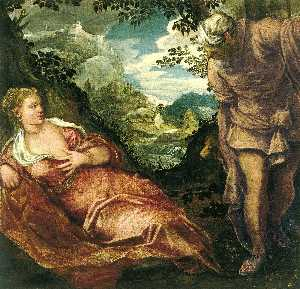 Jacopo Tintoretto - The Meeting of Tamar and Juda