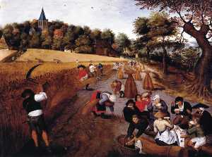 Pieter Brueghel The Younger - The Harvest
