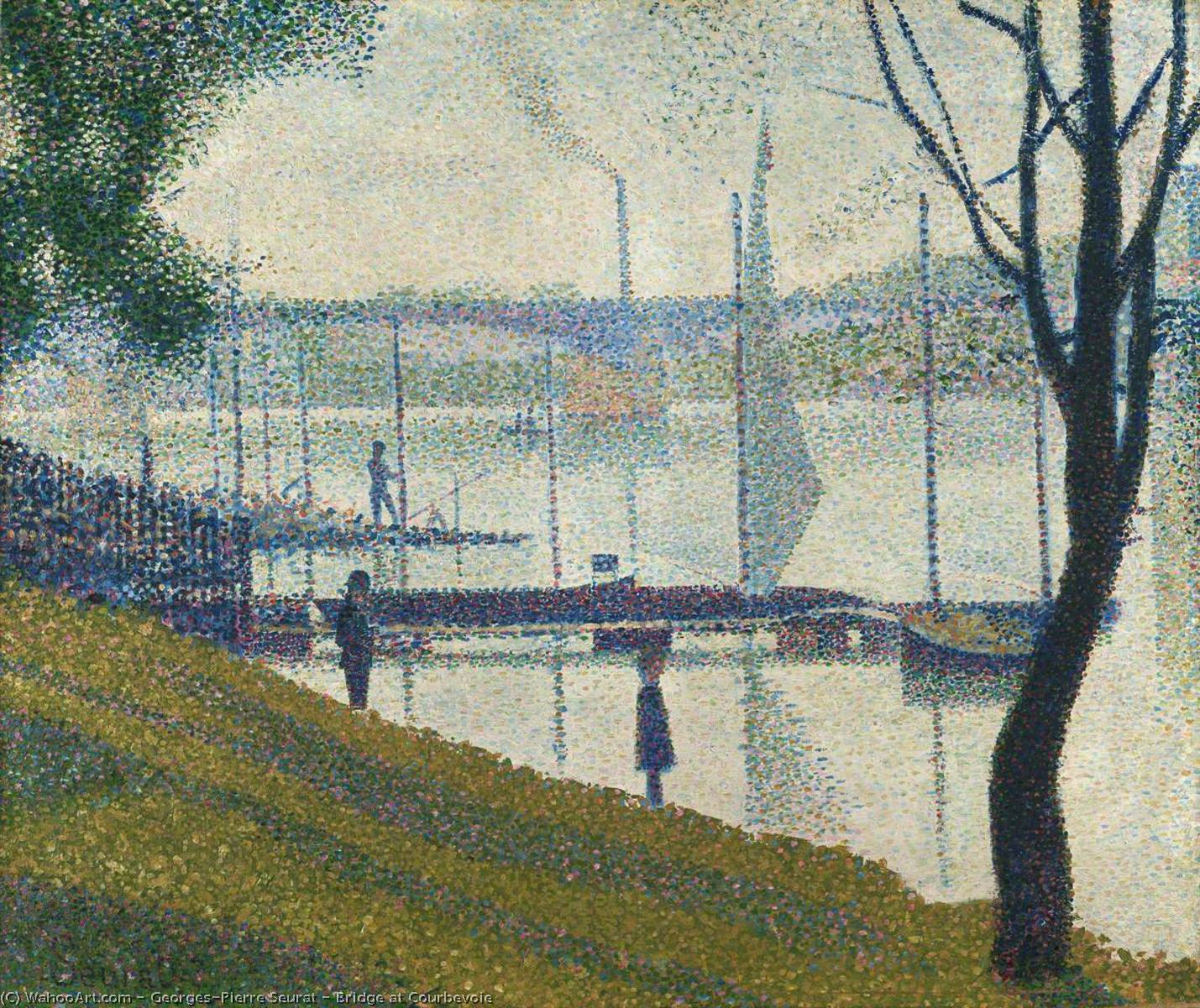 famous painting Bridge at Courbevoie of Georges Pierre Seurat