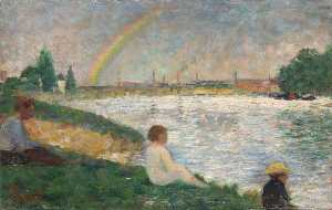 Georges Pierre Seurat - The Rainbow Study for 'Bathers at Asnières'