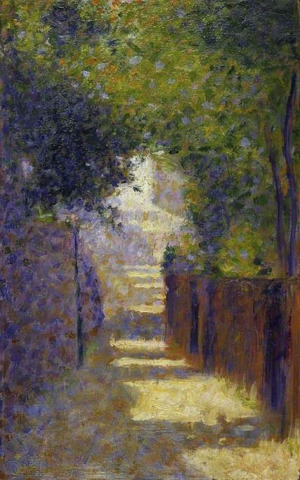 famous painting The Rue St Vincent, Paris in Spring of Georges Pierre Seurat