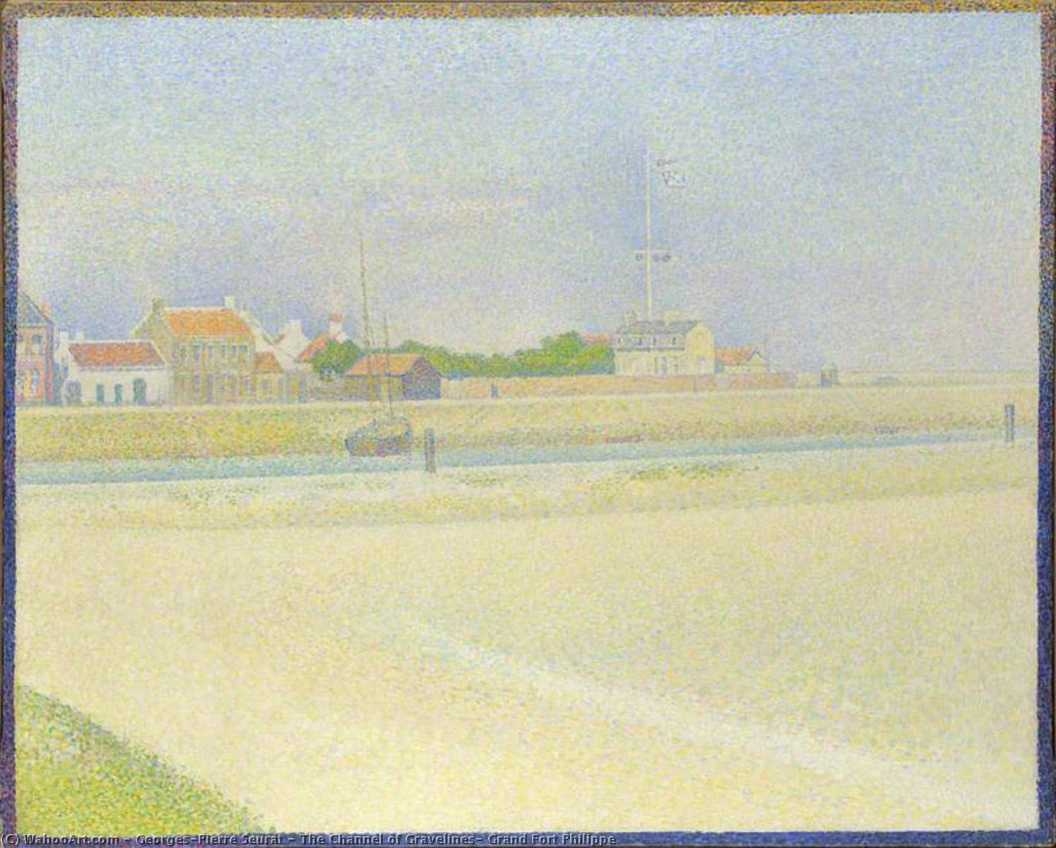 famous painting The Channel of Gravelines, Grand Fort Philippe of Georges Pierre Seurat