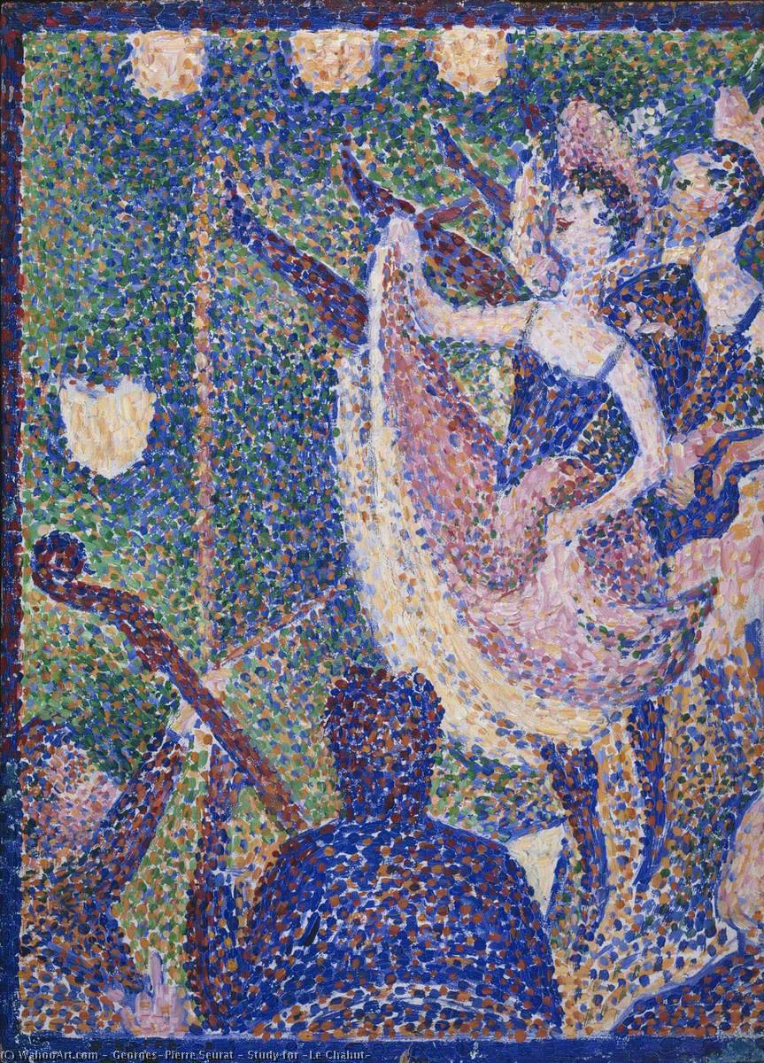 famous painting Study for 'Le Chahut' of Georges Pierre Seurat