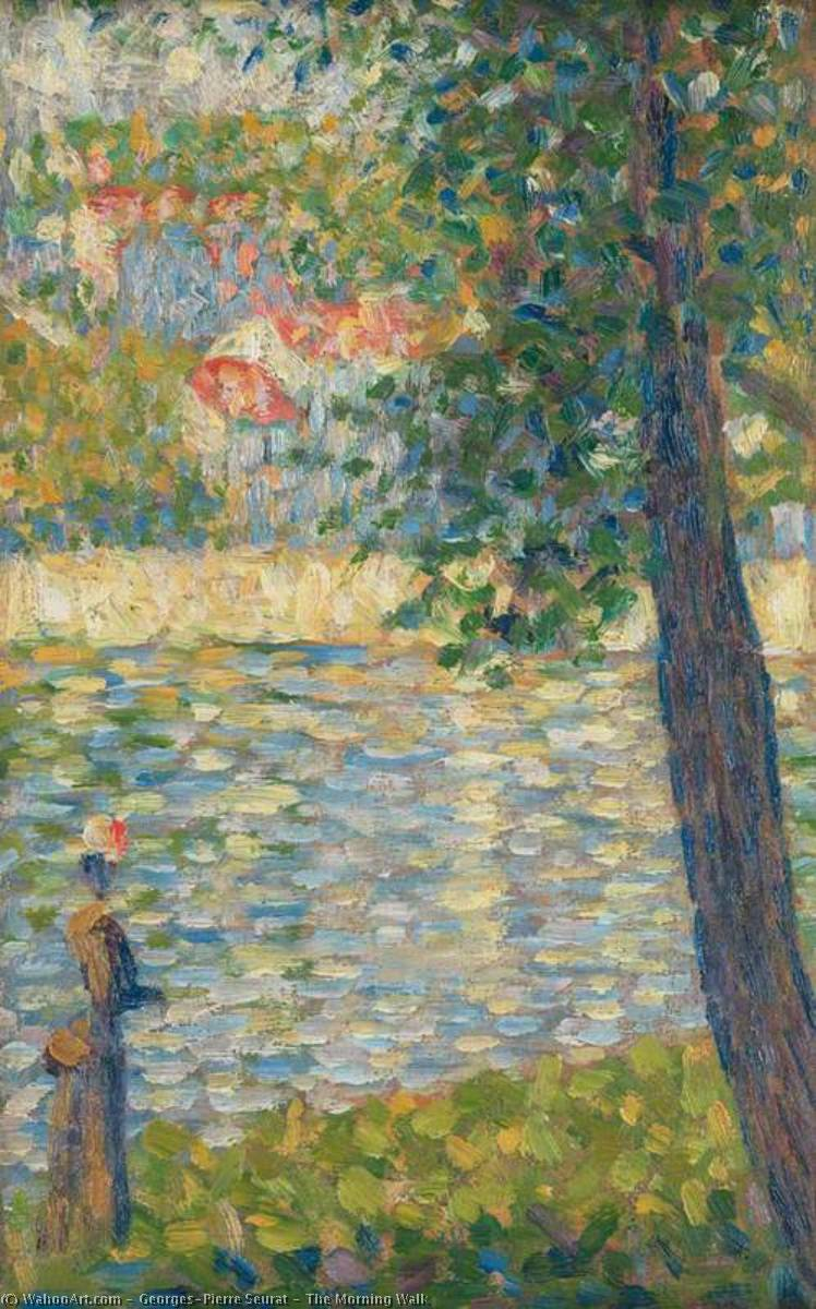 famous painting The Morning Walk of Georges Pierre Seurat