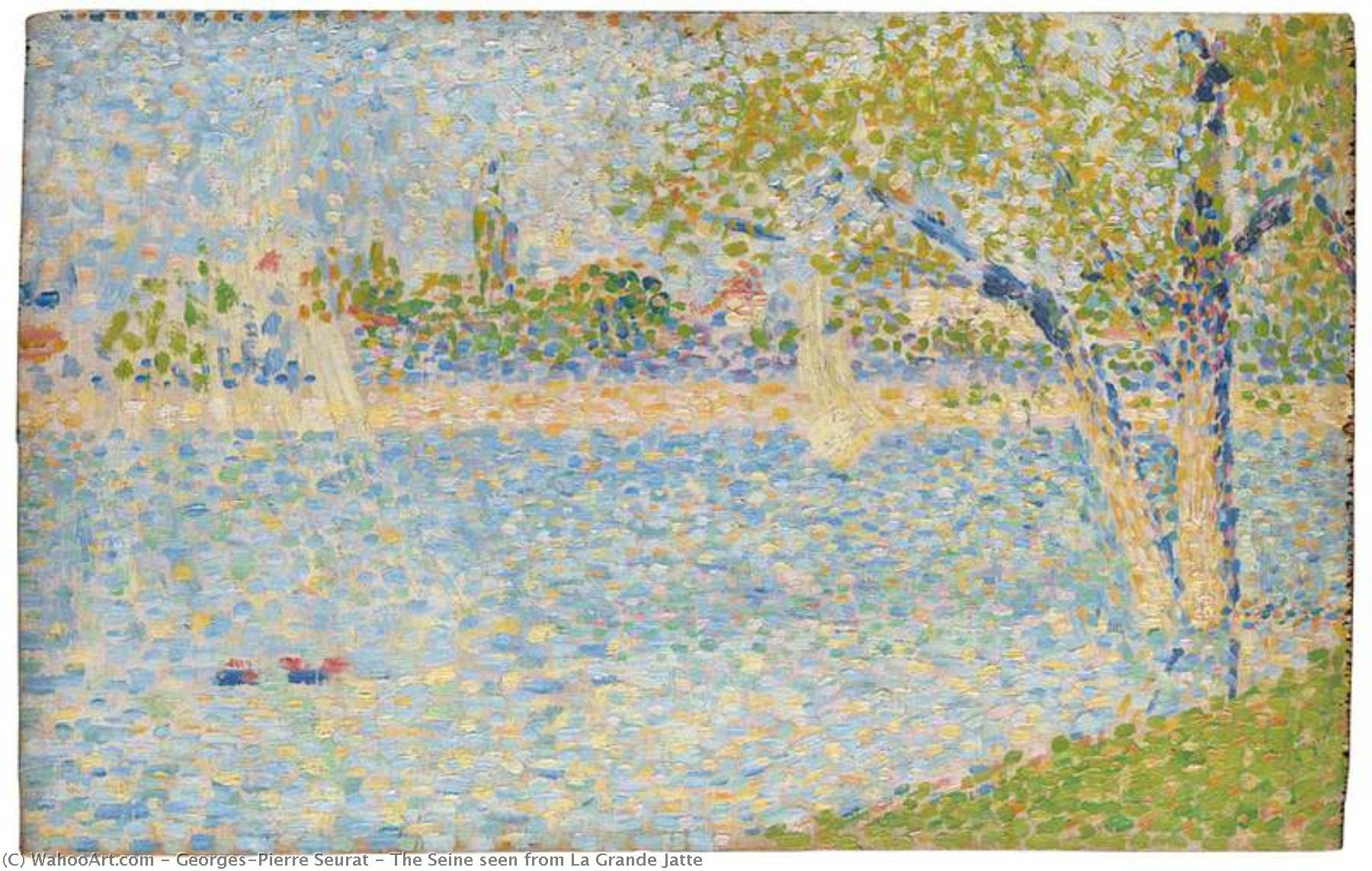 famous painting The Seine seen from La Grande Jatte of Georges Pierre Seurat