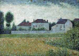 Georges Pierre Seurat - Ville d'Avray, France, maisons blanches